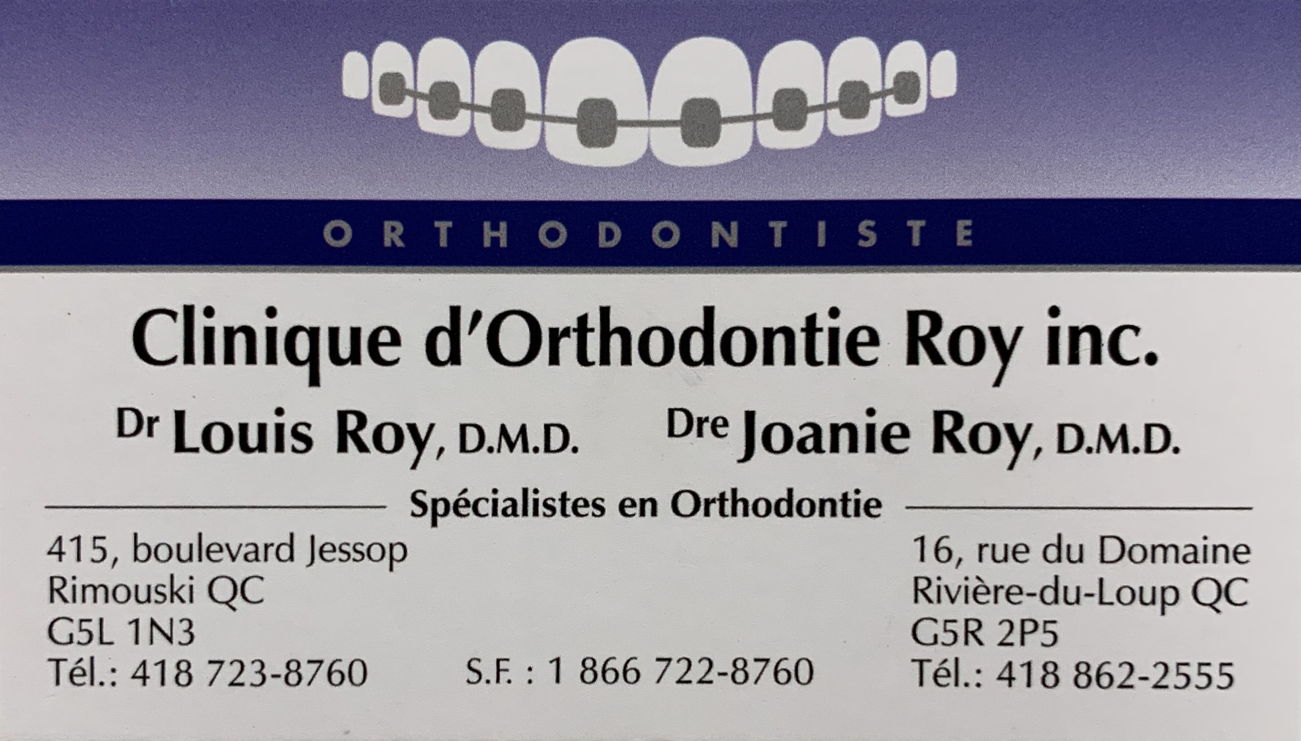 Clinique d'Orthodontie Roy